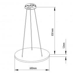 SML LED Mero Round Pendelleuchte Abmessungen
