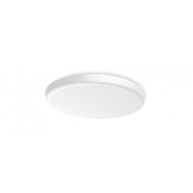 SML LED UFO Anbauleuchte rund DM200 12W 3000-5700K Weiss IP54 Lichtfarbe einstellbar an der Leuchte