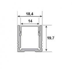 ALU Profil 18,4x19,7mm...