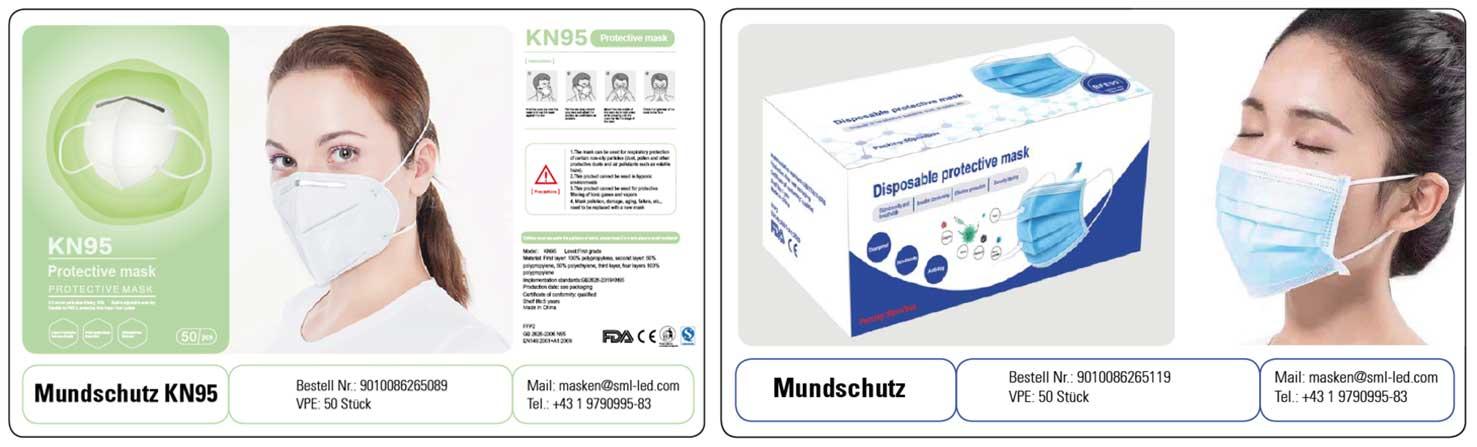 FFP2 uns Nasen Mundschutz Atemschutzmaske